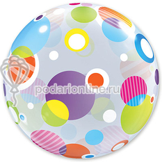 шары BUBBLE 22 Polka Dots