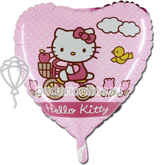 шары 18 Hello Kitty на велосипеде